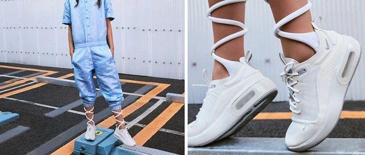 耐克女子高颜值气垫运动鞋,清仓特价