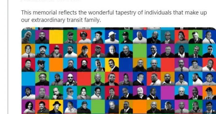 纽约大都会运输署发起活动 纪念死于新冠的136名职员