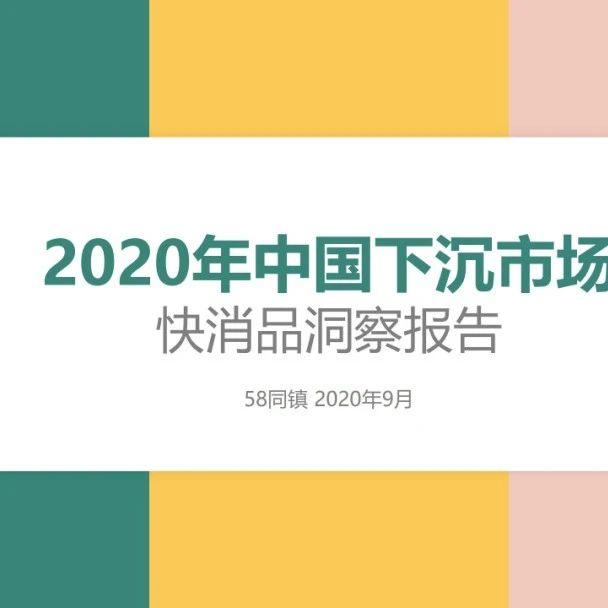 2020年中国下沉市场快消品洞察报告