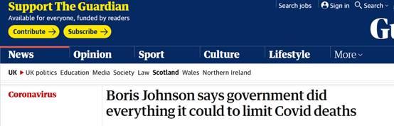 英国超10万人死于新冠 约翰逊:政府已经做了一切能做的