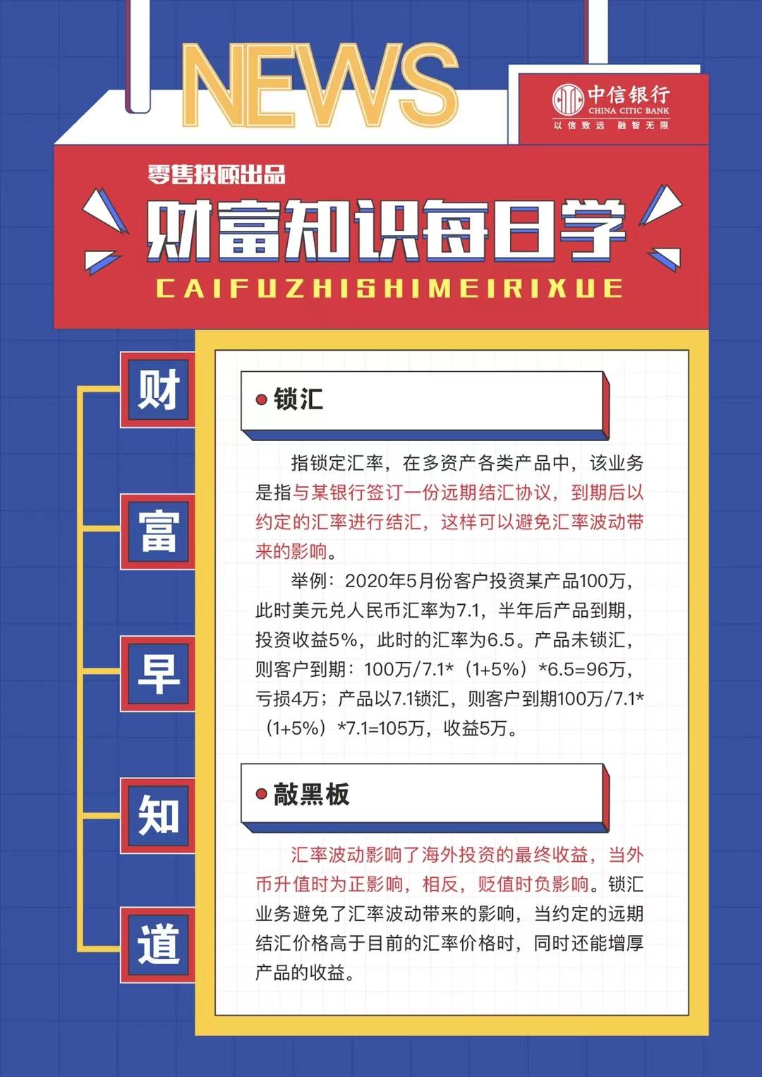 中信银行郑州分行财富知识每日学(2021.1.27)
