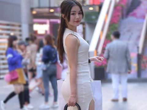 修身的白裙子,适合夏天旅行的服装,谁穿谁漂亮
