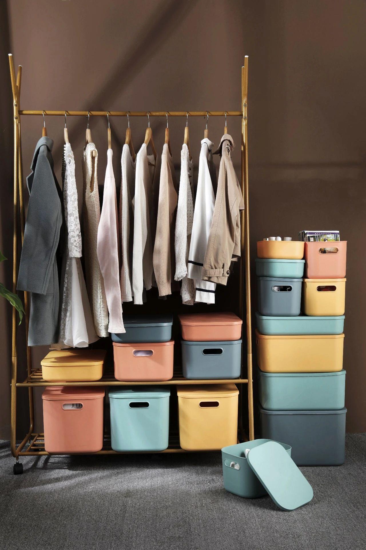 高颜值撞色北欧收纳盒,1分钟搞好收纳,还你一个整洁的家