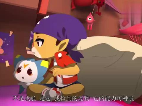 洛克王国:蔴球胆子很小,洛克介绍新朋友,他缩在洛克身边