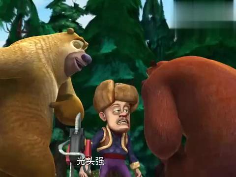 熊出没:这眼神太吓人了,熊大好像被恶魔附体了,这是红眼病吧