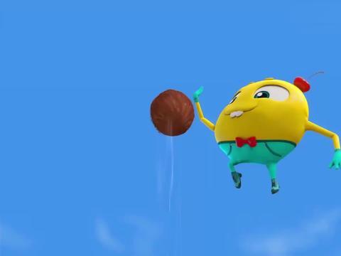 疯狂小糖:小糖从高空抛下椰子,椰子居然没坏,小糖很是惊讶
