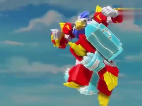 猛兽战警:锯冰鳄扛着电磁炮,瞄准马路兽,看看谁的炮威力大