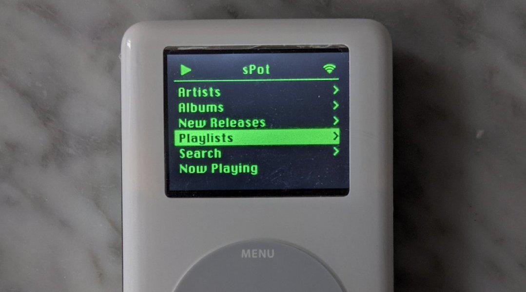 改装「复活」一台老 iPod,变身 Spotify 串流音乐播放设备