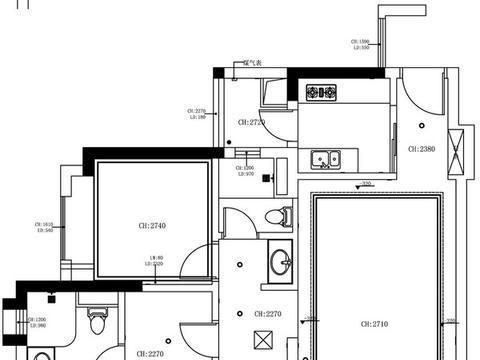 108平现代轻奢美宅,色彩使用大胆跳脱,构建属于自己的精致家