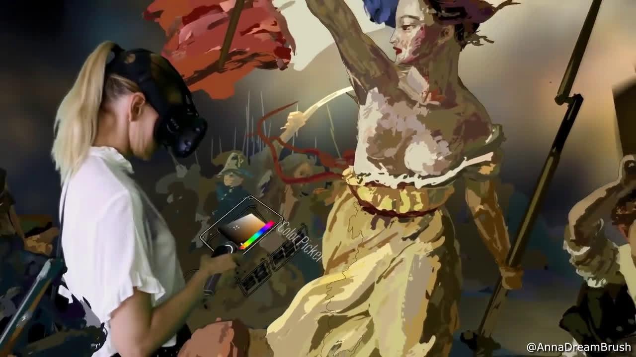 身临其境!在卢浮宫的虚拟现实里还原世界名画~……