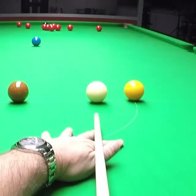 亨德利的最新教学视频,教你怎么打远台红球叫黑球同一个袋