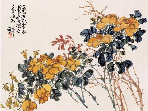 京派绘画的代表人物陈半丁先生精品花鸟画作品欣赏