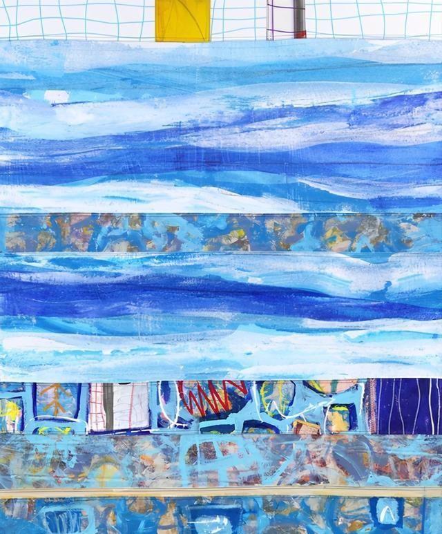 瑞典都市抽象表现主义艺术家汤米·伦纳特森绘画