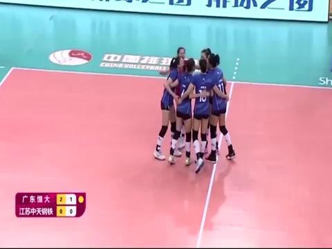 江苏女排遭遇首败,0-3不敌广东女排全场集锦