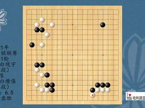 2021年韩国围棋联赛第11轮,白现宇VS白讚僖,黑中盘胜