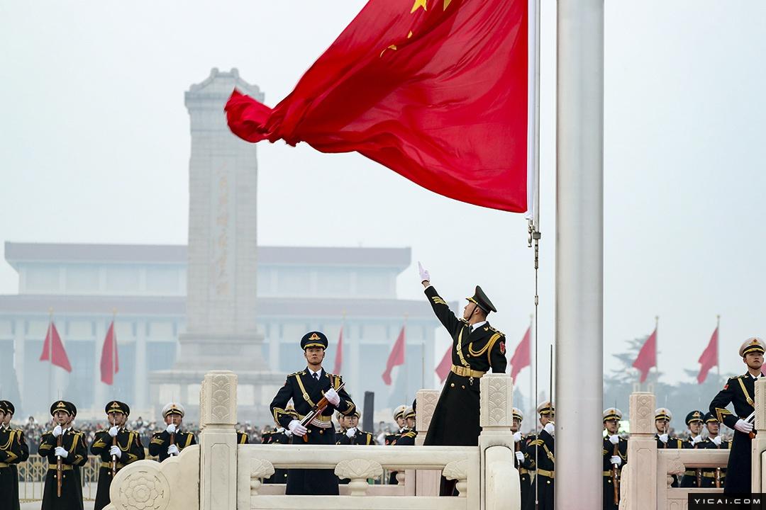 牛年正月初一:天安门广场举行升国旗仪式