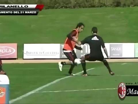 足球世界:你来抢啊!内斯塔训练场vs赞布罗塔,太会用身体了!