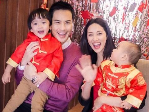 郑嘉颖夫妇庆祝情人节兼儿子2岁生日 陈凯琳制作蛋糕为儿子庆生