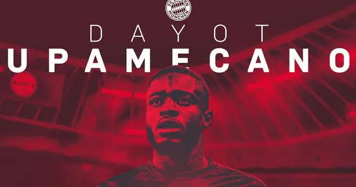 拜仁慕尼黑签下法国后卫乌帕梅卡诺