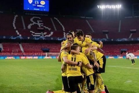 欧冠-哈兰德2射1传 多特蒙德客场3比2逆转塞维利亚