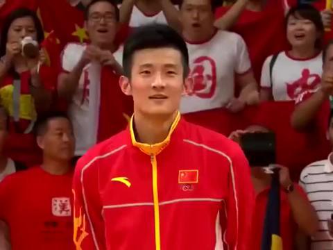 羽坛名场面 2016里约奥运运 谌龙战胜李宗伟挥泪瞬间