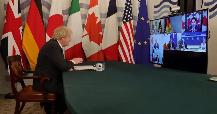 七国集团领导人视频会议召开,英国首相约翰逊主持会议