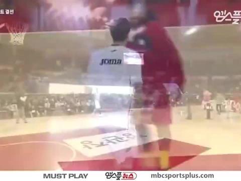 感受一下韩国篮球联赛扣篮大赛