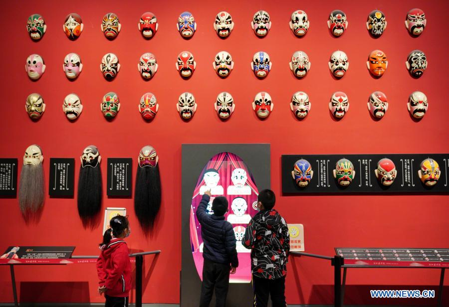 People visit Hebei Museum in Shijiazhuang, north China's Hebei Province, Feb. 22, 2021. Public cultural venues and stadiums in the northern Chinese city of Shijiazhuang, hit by a recent COVID-19 resurgence, resumed operation on Monday. Shijiazhuang cleared all medium- and high-risk areas for COVID-19 on Monday. (Xinhua/Mu Yu)