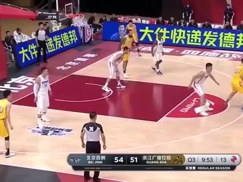 孙铭徽33+13,率领广厦加时逆转北京