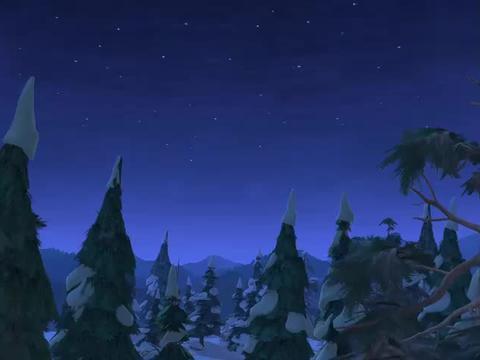 光头强用灯笼忽悠熊熊,自己躲在暗处砍树,真狡猾啊