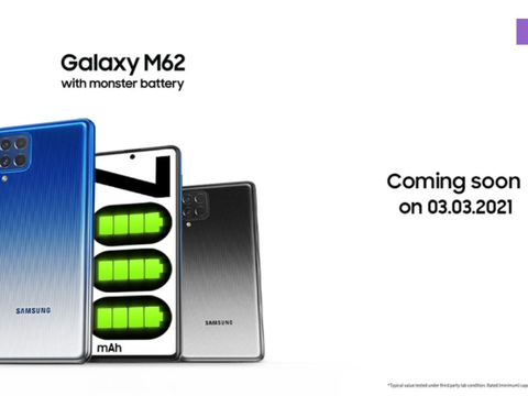 Galaxy M62下周发布:印度海外的Galaxy F62