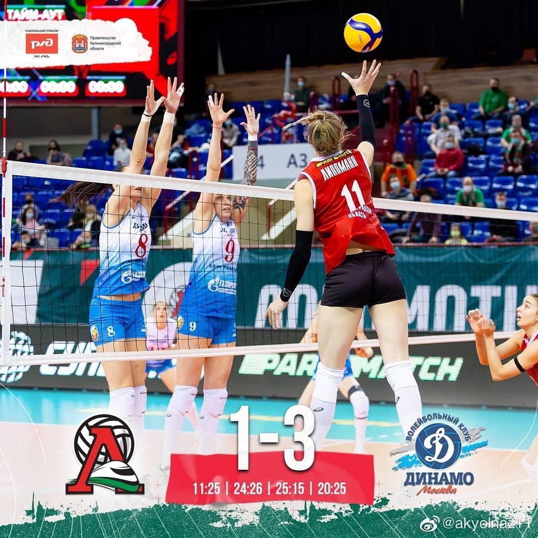 2020-2021赛季俄罗斯女排超级联赛第十八轮补赛……