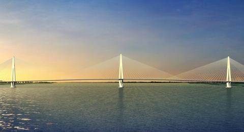 江苏建设的长江大桥,路基和桥梁设计时速100公里,将不设收费站
