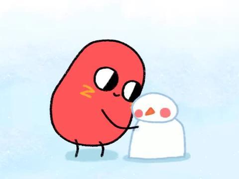 请吃红小豆吧:红小豆堆好雪人,一看别人的,无地自容呀