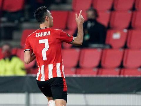 扎哈维欧战淘汰赛两回合进4球 埃因霍温4-5出局
