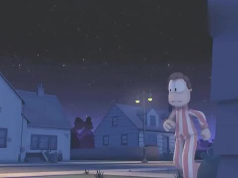 乔恩害怕自己的狗受到行星影响变成怪兽,教授看到狗后说不会的