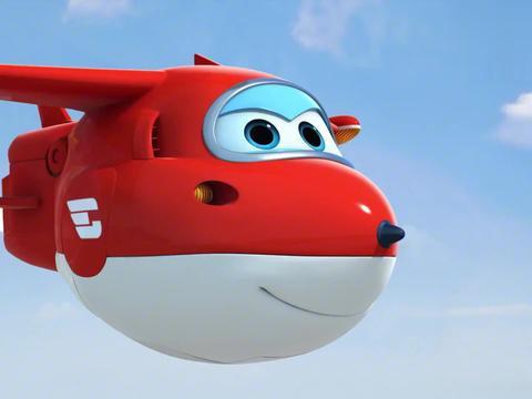 超级飞侠:乐迪和酷飞玩乐,在天空相互碰撞,真像碰碰车!