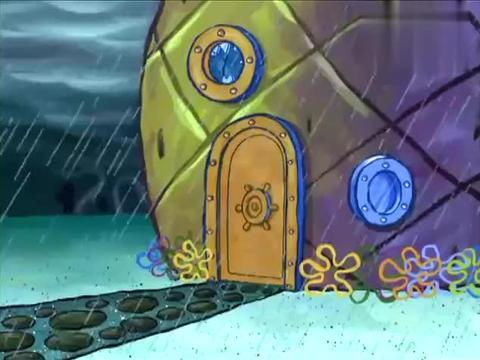 《海绵宝宝》小哥俩把球打到章鱼哥家里,派大星进来就奔冰箱找!
