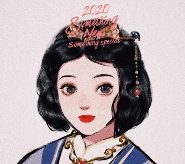 迪士尼公主穿上汉服,贝儿一身华服很可爱,爱丽儿的扇子很有特色