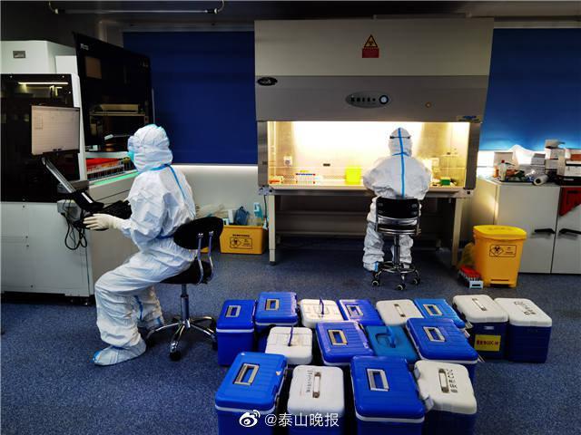 泰安市疾控中心新冠病毒核酸检测实验室: 日核酸样本检测能力提升到10000份