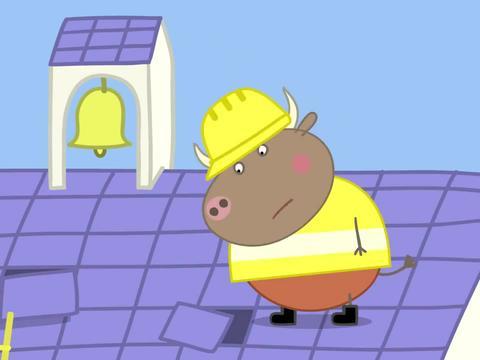 小猪佩奇:公牛先生夸奖自己,却被老师拆穿,显出了原形!