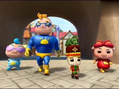 猪猪侠:小木偶说主人是美丽的女孩,猪猪侠找不到,一看本人懵了