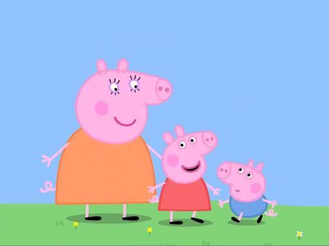 小猪佩奇:佩奇可真狠心,饭都不给猪爸吃,就开始让他练习跑步