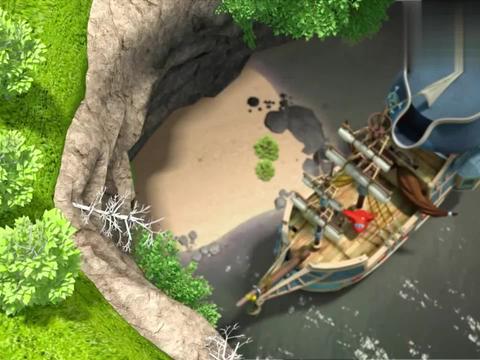 超级飞侠:女孩真善良,抛弃了海盗宝藏,救出了海盗船!