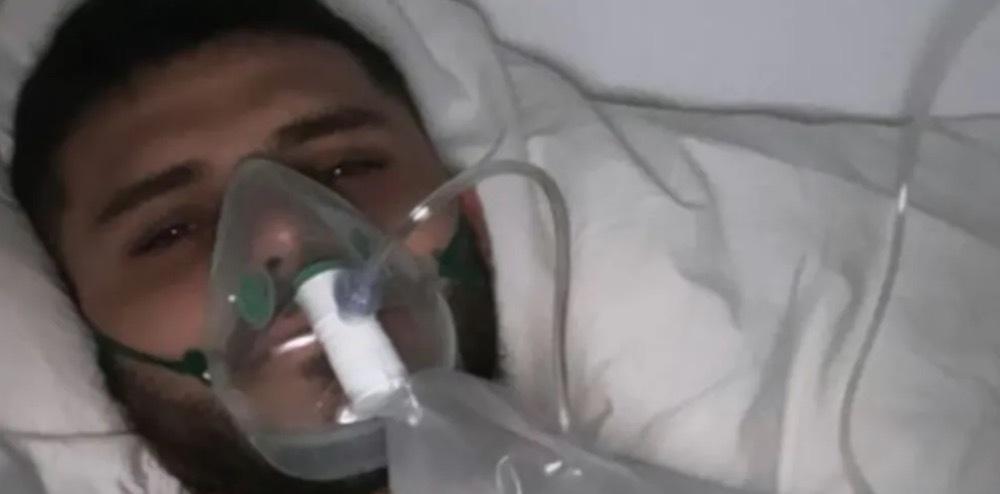 伊卡尔迪患肠胃炎发布戴氧气面罩图片……