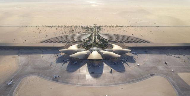 沙特阿拉伯红海国际机场开工,建筑体现沙漠景观