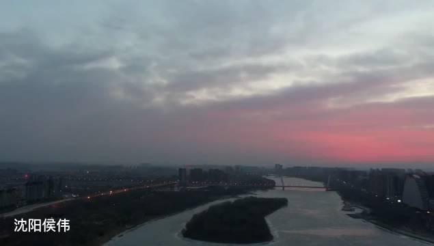 2月28日清晨,沈阳用一场朝霞和二月份说再见……