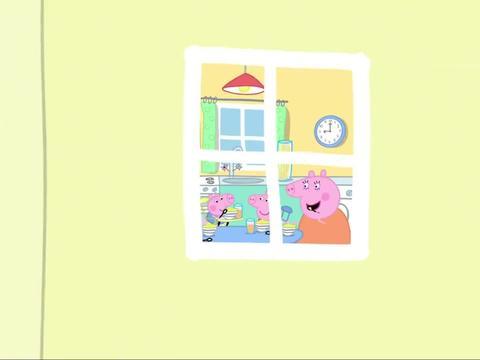 小猪佩奇:乔治急着出去玩,一口气喝下果汁,结果一直在打嗝