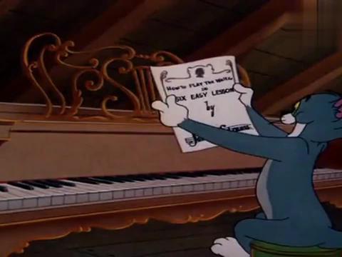 猫和老鼠:汤姆杰瑞首合作,一个弹琴一个跳舞,竟登上国家舞台