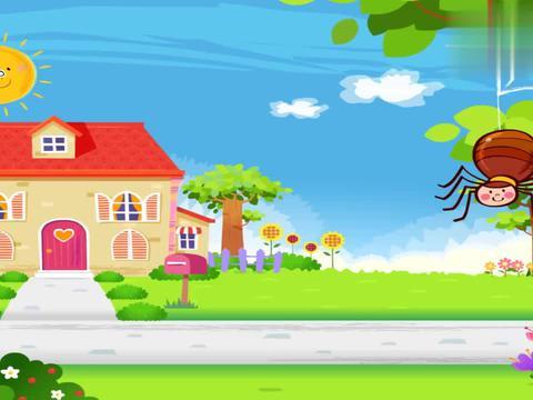 碰碰狐:小朋友在外面玩耍,看到了墙上的蜘蛛,想跟他一起玩耍